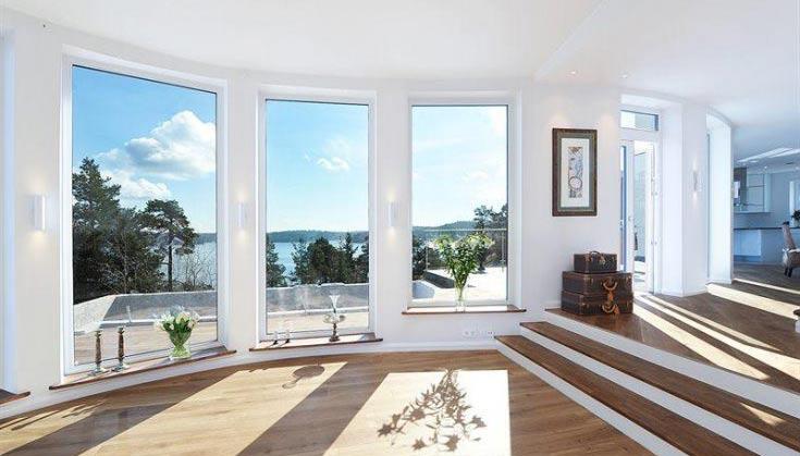 Fullhöga fönster med aluminiumram