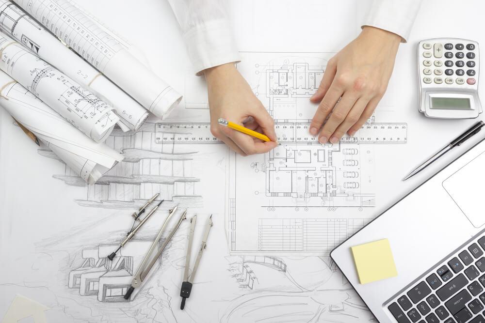 ritning arkitektur